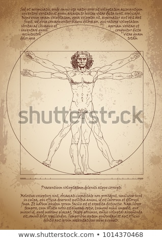Vitruvian Man Leonardo Da Vinci Stock photo © PeterHermesFurian