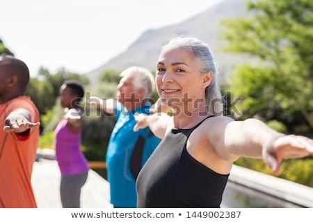 女性 クラス グループ 小さな 笑みを浮かべて ストックフォト © luminastock