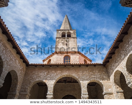 bell tower in porec croatia stock photo © anshar