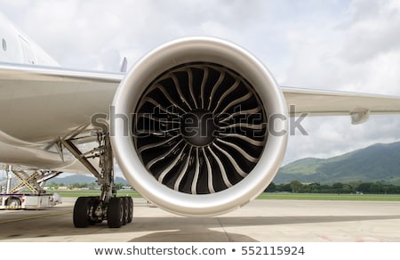 Jet Airplane Descending Stock photo © ArenaCreative