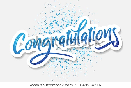 Congratulations Stock photo © enterlinedesign