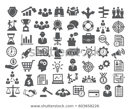 Vector flat business icons Stock photo © tele52