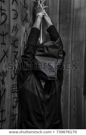 scary · mostro · buio · stanza · donna · sexy - foto d'archivio © elnur