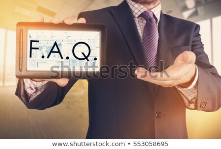 faq on screen shows assistance or frequently asked questions onl stock photo © stuartmiles