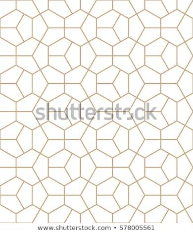 brown hexagonal pattern stock photo © hypnocreative