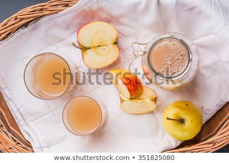 Nyers almalé sajtó fut lefelé étel Stock fotó © Arrxxx