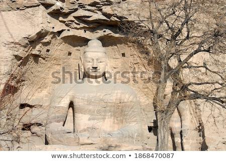 каменные Будду дерево Вишневое цветы весны Сток-фото © meinzahn