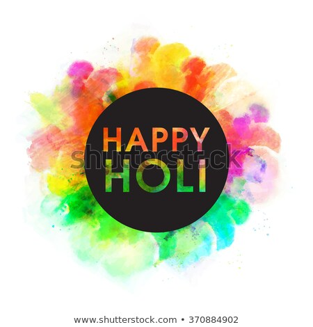 abstract colorful background for stylish holi text festival desi Stock photo © bharat