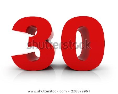 Czerwony numer 30 refleksji projektu podpisania Zdjęcia stock © Zerbor