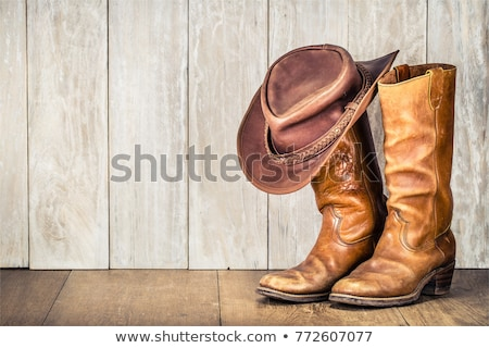 Botas de vaquero par blanco cuero botas occidental Foto stock © Habman_18