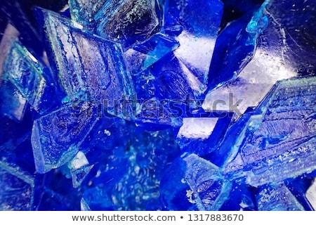 Stock fotó: Kék · ásvány · izolált · fehér · textúra · természet