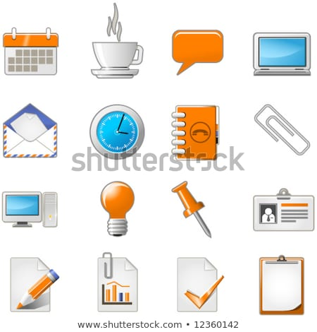 Web page or office theme icon set Stock photo © Winner