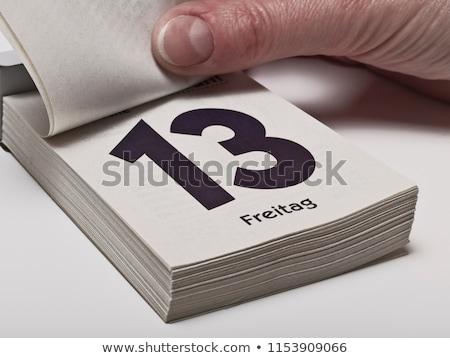 Dzień kalendarza szczegół papieru tabeli Zdjęcia stock © stevanovicigor