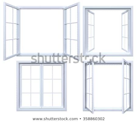 rectangular window frame Stock photo © meinzahn