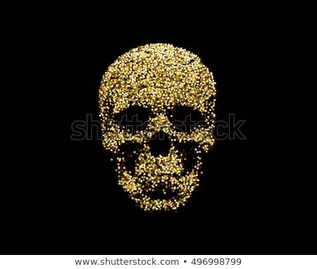 Mozaik koponya kép illusztráció fehér háttér Stock fotó © dvarg
