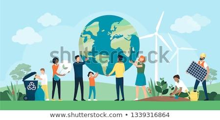 Reciclagem reciclar assinar natureza Foto stock © idesign