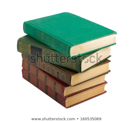 tattered book stack isolated on white background Stock photo © natika