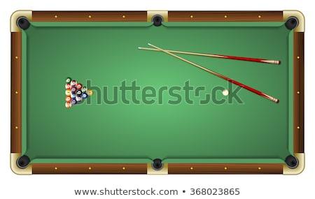 Sarok biliárdasztal éles zseb medence punk Stock fotó © Hochwander