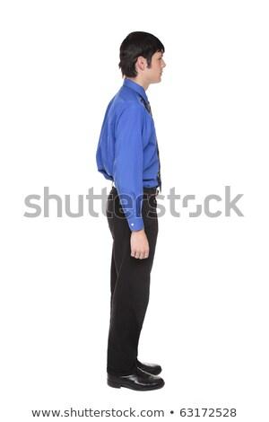 Side view Caucasian businessman looking right full length Stock photo © dgilder