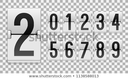 Countdown negen oude film scherm hoog Stockfoto © idesign