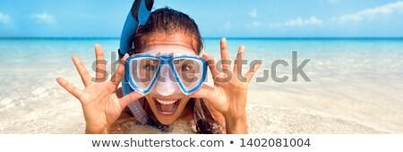 Girl with diving mask Stock photo © adrenalina