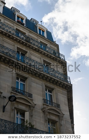 Exterior of a historical townhouse in Paris Stock photo © juniart