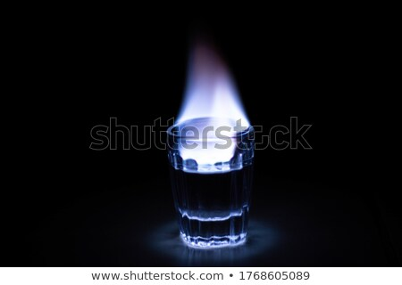 Glas Flammen Illustration Vektor Stock foto © derocz