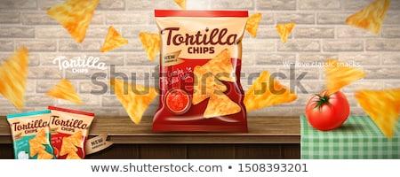 メキシコ料理 トルティーヤ クローズアップ 赤 緑 ストックフォト © cosma