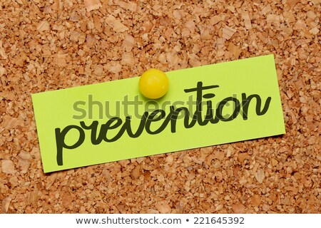 Blackboard with the text Prevention is better than cure Stock photo © Zerbor