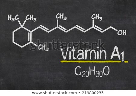 tablicy · chemicznych · wzoru · witamina · c · owoców · technologii - zdjęcia stock © zerbor