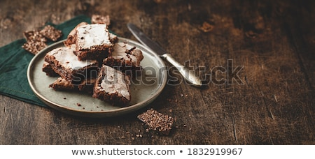 Stock photo: Homemade brownies