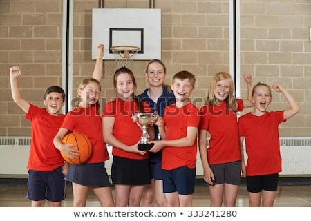 мужчины школы спортивная команда спортзал трофей спорт Сток-фото © HighwayStarz