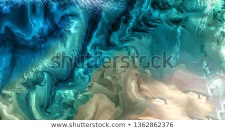 Pembe yeşil yağ damla su soyut Stok fotoğraf © Geribody