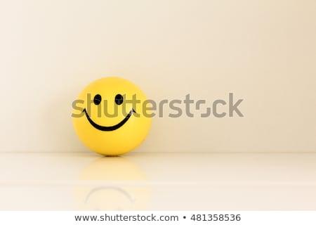 Yellow smiley ball Stock photo © Dazdraperma
