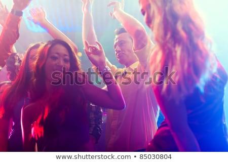 due · persone · flirtare · dancing · discoteca · Coppia · vetro - foto d'archivio © kzenon