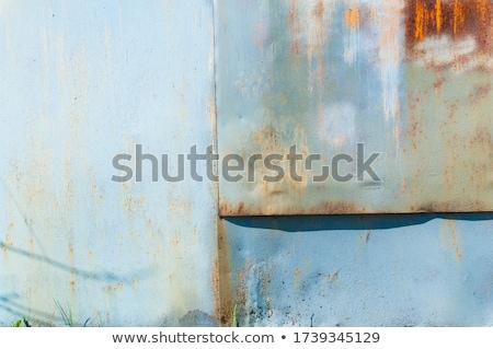 Pintar manchado enferrujado porta ferro vintage Foto stock © sirylok