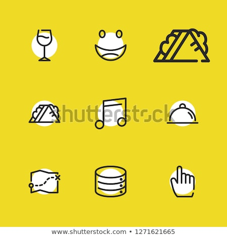 Map pointer with goblet icon Stock photo © aliaksandra