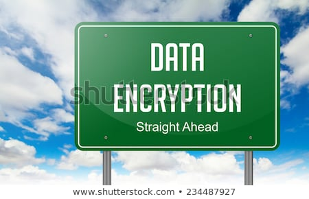 Data Encryption on Highway Signpost. Stock photo © tashatuvango
