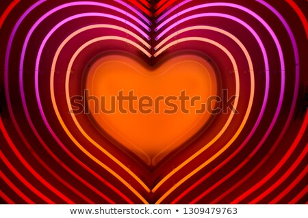 ışık yukarı kalp sevmek valentine mum Stok fotoğraf © user_8545756