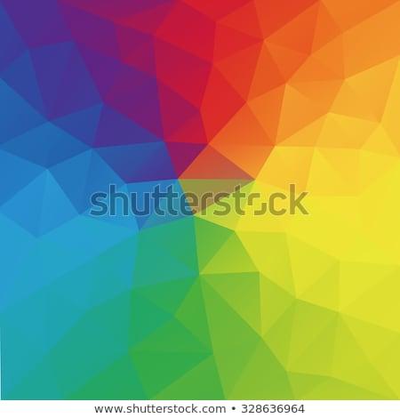atomair · mandarijn · oranje · abstract · laag · veelhoek - stockfoto © mcherevan