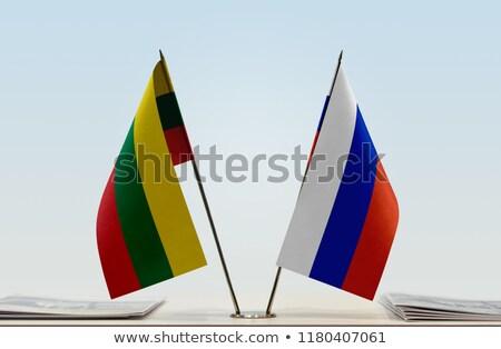 Russia Lituania miniatura bandiere isolato bianco Foto d'archivio © tashatuvango
