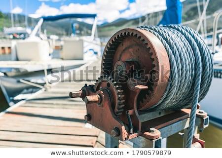 Stylizowany morskich żeglarstwo jacht liny starych Zdjęcia stock © tracer
