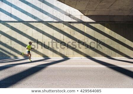 Fitt férfi futó képzés kardio fut Stock fotó © Maridav