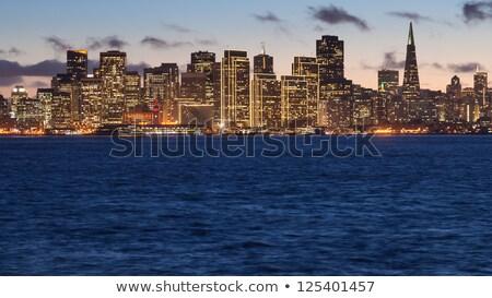 Photo stock: San · Francisco · cityscape · trésor · île · nuit · eau