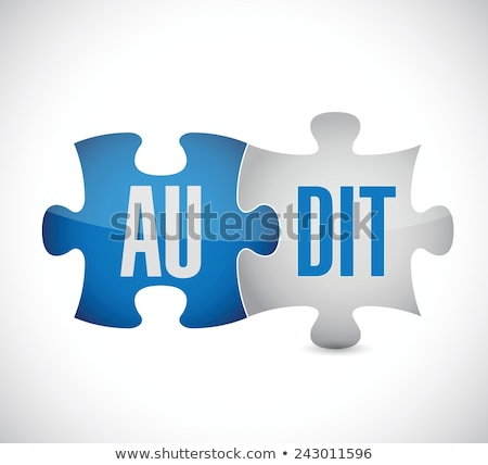 Pay - Text on Blue Puzzles. Stock photo © tashatuvango