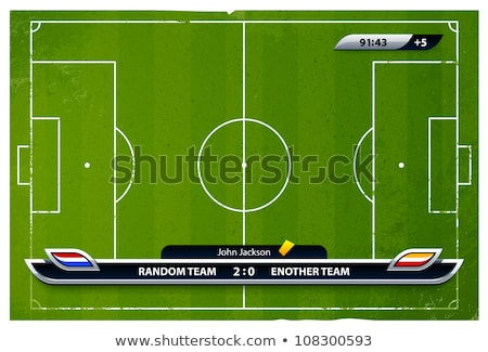 Green Soccer Field with Statistics Elements Stock photo © Voysla