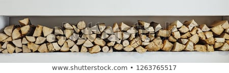 Stock fotó: Tűzifa · boglya · köteg · aprított · ház · fa