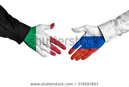 Itália Rússia apertar a mão mãos mão reunião Foto stock © Zerbor