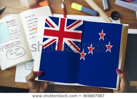 таблетка Новая Зеландия флаг изображение оказанный Сток-фото © tang90246