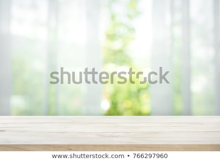 window in a wooden house with white curtains Stock photo © master1305